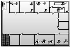 Коммуникации и связь Проектирование локальной вычислительной сети  Рисунок 1 Физическая схема сети 1 го этажа