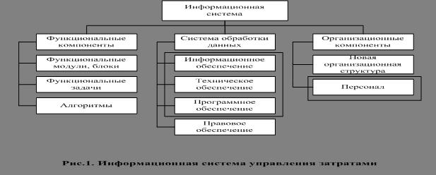 Экономика Управление затратами Дипломная работа Учил Нет  Под функциональными компонентами понимают систему функций управления полный набор комплекс взаимосвязанных в пространстве по уровням и времени работ