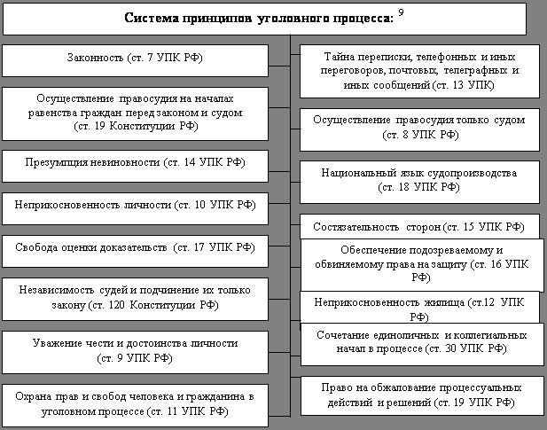 Система принципов уголовного процесса курсовая работа 6100