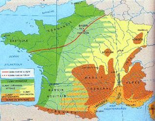 География Франция Реферат Учил Нет  На остальной территории Франции осадки распределены более равномерно их сумма на равнинах 600 тысяч миллиметров в горах до 2000 2500 миллиметров в год