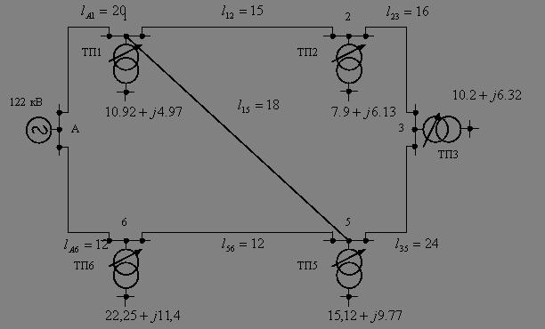 Физика Проектирование элементов систем электроснабжения сельского  1 1 Составление схемы сети 110 кВ