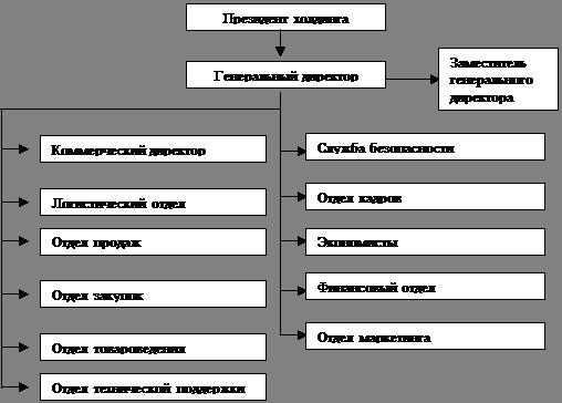 Экономика Анализ хозяйственной деятельности ООО Компания ВКТ  Организационная структура предприятия представлена на рис 1