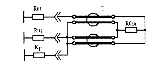 Физика Балансный трансформатор Курсовая работа Учил Нет  Рис 2 Делитель мощности на отрезках кабелей
