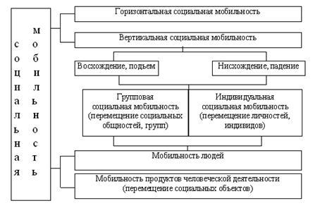 Социология Социальная мобильность понятие маргинальности  Основные формы социальной мобильности