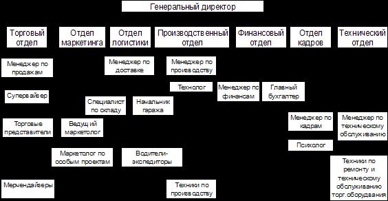 Схема структуры торговой организации
