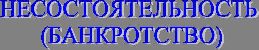Право Банкротство Реферат Учил Нет  НЕСОСТОЯТЕЛЬНОСТЬ 13 10 БАНКРОТСТВО