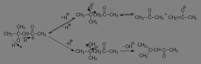 Химия Реакция альдольно кротоновой конденсации и ее оптимизация  б при кислотном катализе ион водорода вызывает енолизацию одной молекулы оксосоединения и образование карбониего иона из второй