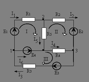 Физика Методы расчета электрических цепей постоянного тока  Рассмотрим данный метод на примере конкретной схемы рис 1