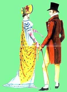 ������� � ���� � �������� ��������, 1800 �. ���������������� ������������. ������� ������� � ����. ���� ������-�����. �������� ����������� -Journal des Luxus und der Moden, 1800