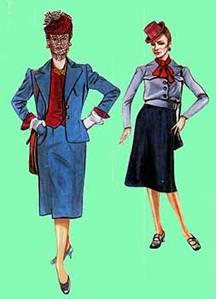 ������������ � ����������� �������� ������� ������� ������, 1942 �. ���������������� ������������. ������� ������� � ����. ���� ������-�����. �������� ����������� - Vogue � ����� �������� � ��������
